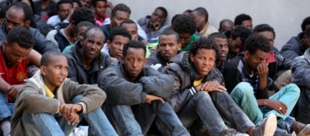 Grupa uchodźców znajdująca się we Włoszech.