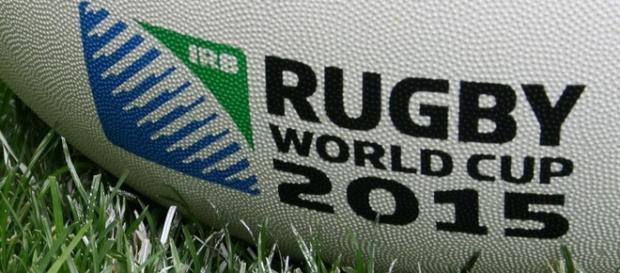 Logo oficial em uma da Copa do Mundo de Rugby 2015