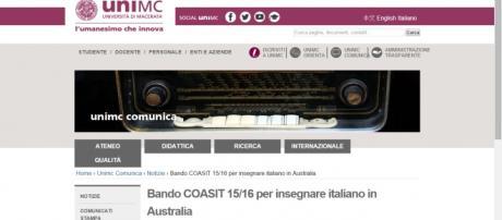 UniMacerata, bando per insegnante di italiano