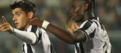 Alvaro Morata e Paul Pogba, Juventus