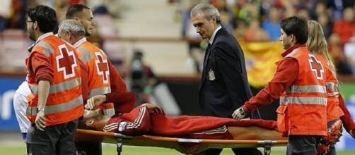 Morata esce in lacrime dopo l'infortunio
