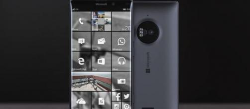 Un'immagine dello smartphone Microsoft Lumia 950