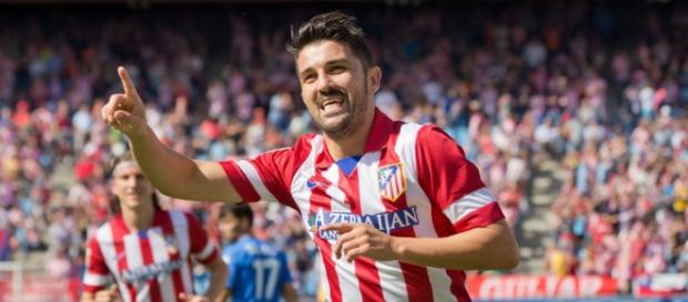David Villa en un equipo de la Liga BBVA
