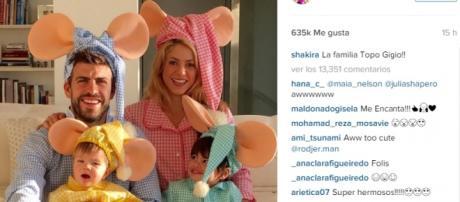 El tierno Halloween de la familia Piqué – Mebarak