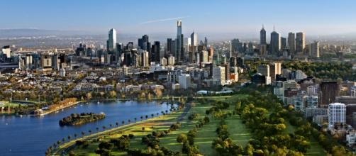 Melbourne en imagen de archivo