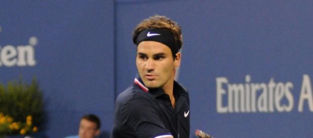 Federer durante un lance del juego