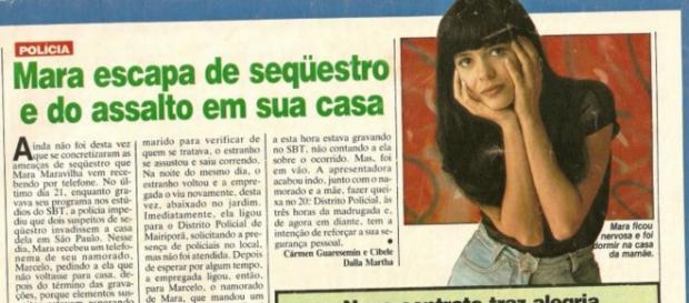 Mara Maravilha foi vítima de sequestro