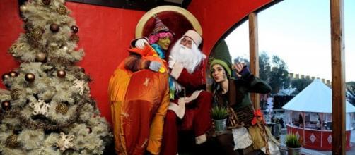 A cabana do Pai Natal é uma das muitas atracções.