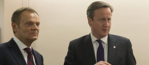 David Cameron with Council President Donald Tusk