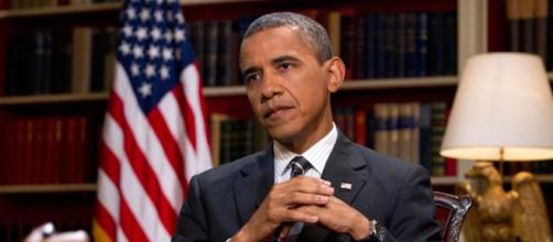Obama durante una entrevista a principios de año