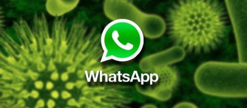 Un'immagine che simboleggia i virus su WhatsApp