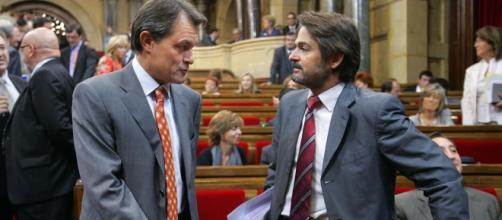Artur Mas durante una sesión del parlamento
