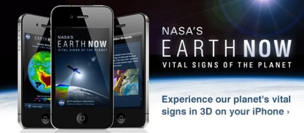 Aplicativo Earth Now, para Android ou IOS.