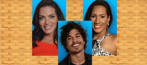 Douglas, Carla Prata e Quelynah estão na Roça