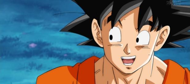 Goku entrenando con Wiss y Vegeta