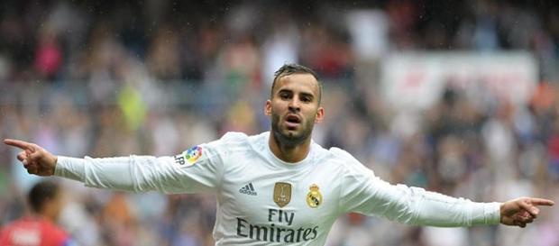 Jesé, celebrando un gol con el Real Madrid