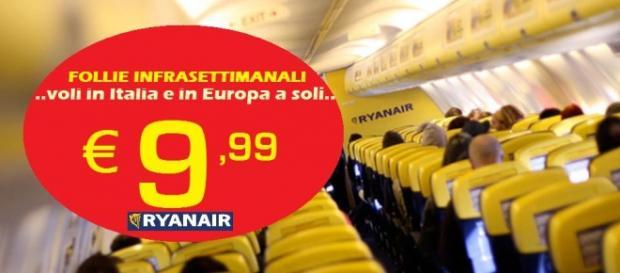 Ryanair, 250mila biglietti per voli a 10 euro