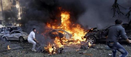 Atentado suicida en Beirut (Foto AP/Hussein Malla)