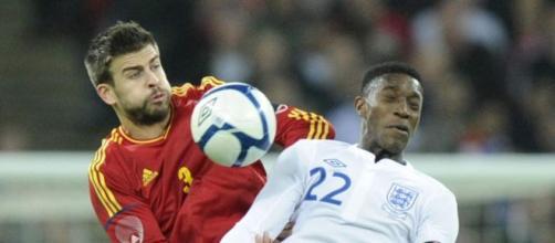 Imagen del último duelo Inglaterra vs España
