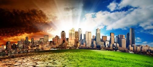Prima e dopo gli effetti del riscaldamento globale