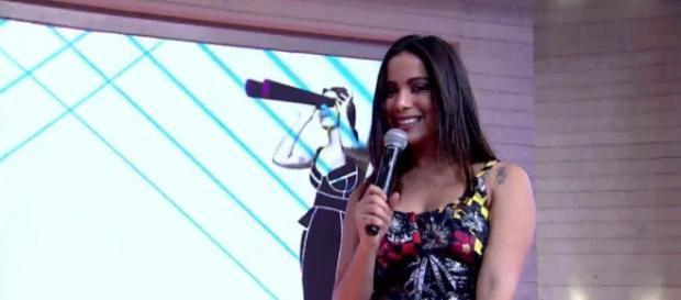 Anitta no programa (Foto: Reprodução Twitter)