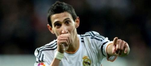 Angel Di Maria when he was at Real Madrid