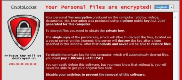 Cryptolocker Ransomware screenshot