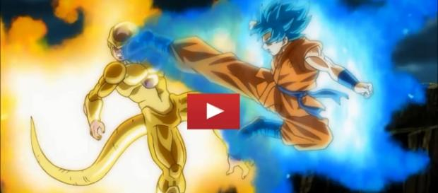 Goku luchando contra Golden Freezer