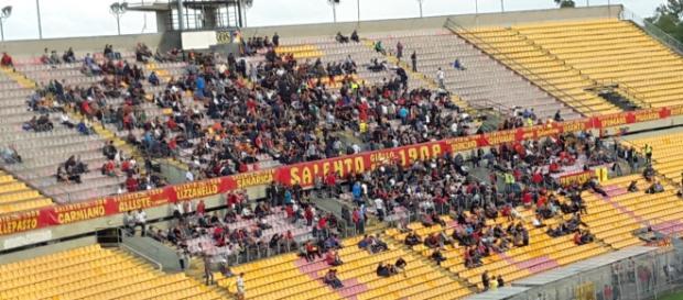 Per Lecce- Cosenza sono previsti pochi spettatori.