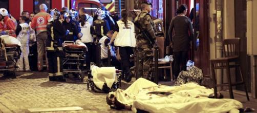 Caos en la sala de conciertos de París
