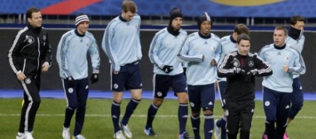 Seleção alemã passou a noite no Stade de France'