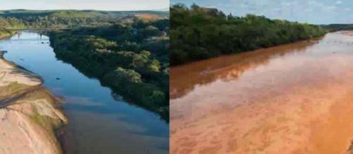 O Rio Doce antes e depois do acidente da Samarco