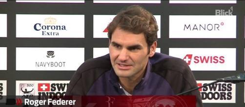 Roger Federer in conferenza stampa