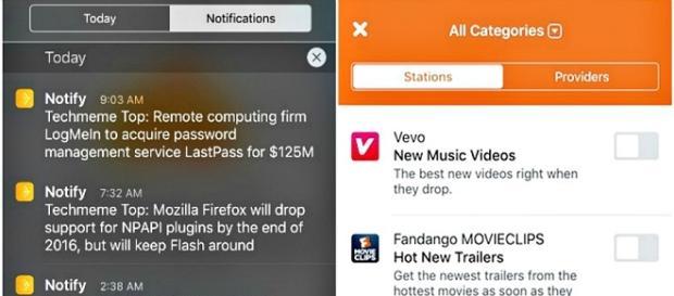 Notify y Facebook, noticias moviles