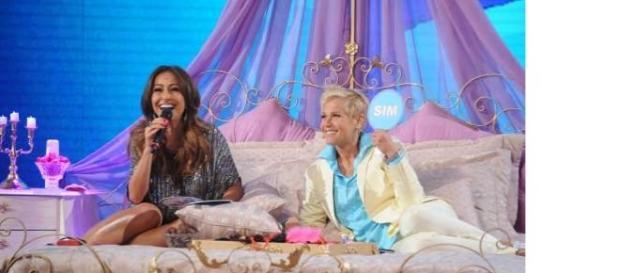 Xuxa e Sabrina no quadro 'Conto de Fadas'