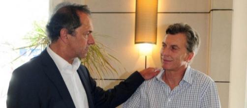 Scioli y Macri, los dos candidatos presidenciales