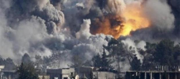 Bombardeo en Siria.Fuente:alobacsi.com