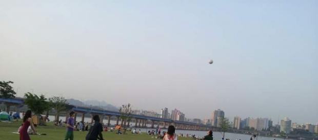 Rio hangan que atraviesa Seúl.