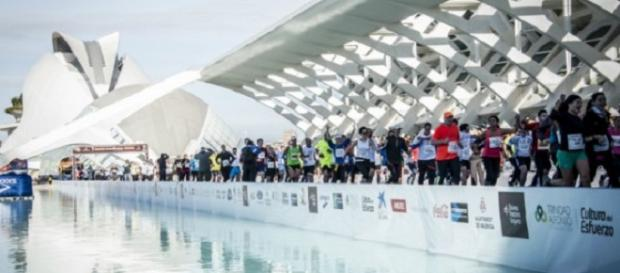 Transcurso de la Maratón de Valencia