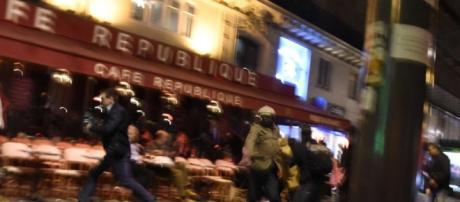 Vienres a la noche en Paris durante los ataques