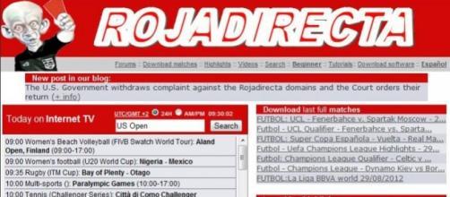 Il portale di streaming Rojadirecta