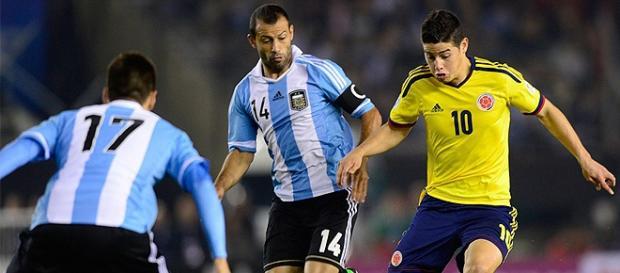 Colômbia e Argentina se enfrentam em Barraquilla