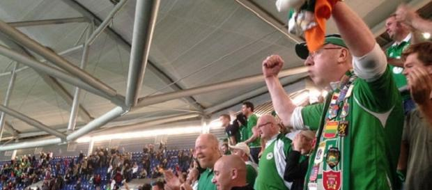 Delight for the Irish football fans in Dublin