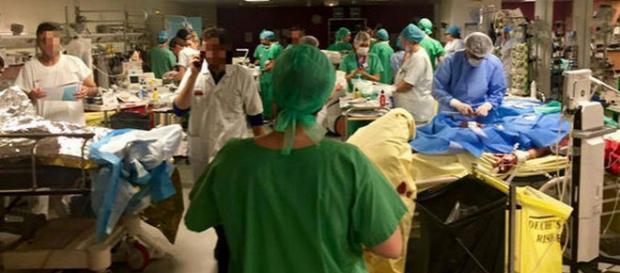 Fotografia virală de la Spitalul St. Louis - Paris
