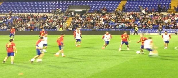 La Selección durante el entrenamiento en Alicante