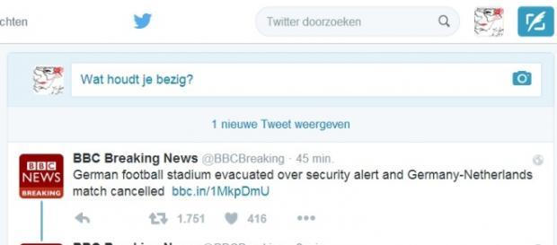 Mecz Niemcy Holandia odwołany-Twitter.com