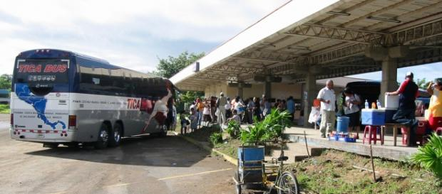 Paso fronterizo en Costa Rica y Nicaragua