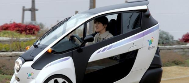 Toyota i-Road, an electric three-wheeled vehicle
