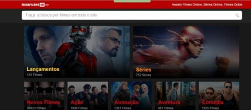 O portal Mega Filmes HD (reprodução da Internet)