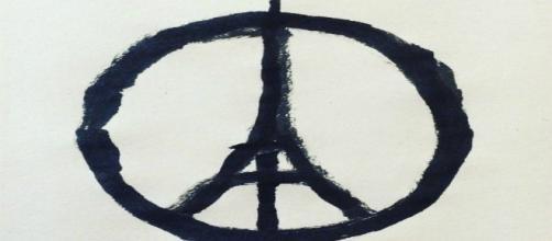 Peace for Paris, disegno di Jean Jullien